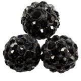 koraliki fimo kule caramballa czarne kryształki 10 mm