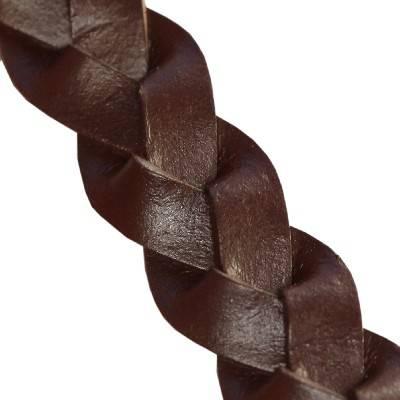 laccio intrecciato piatto di cioccolato 14 mm