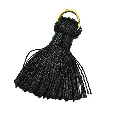 tassels black 21 mm metal ring