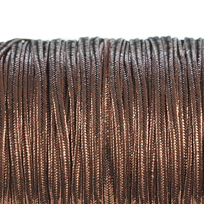 Rayon soutache cord 2.5 mm metallic bronze