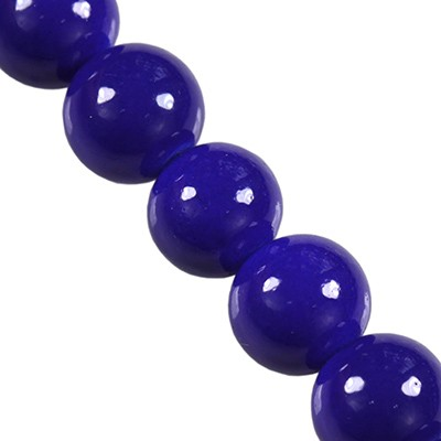 glass beads Panacolor™ blue depths 8mm