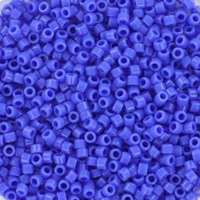 Perles Miyuki Delica opaque cyan blue 1.6 x 1.3 mm DB-1138