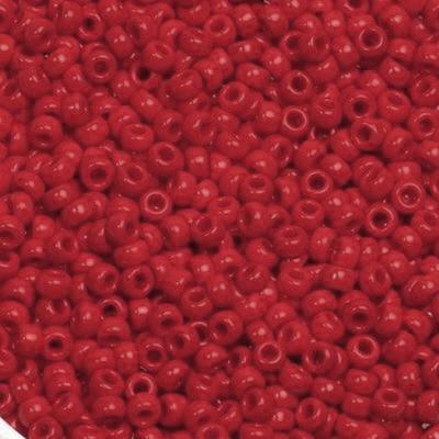 Miyuki round beads opaque red 11/0 #11-408