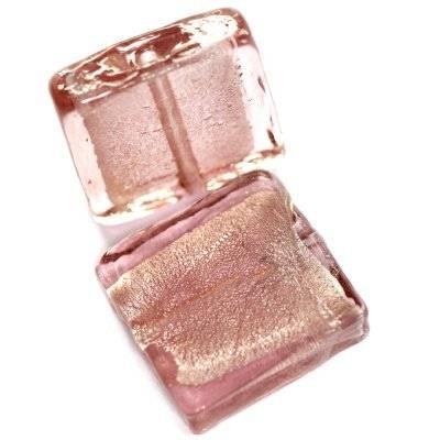 perles de verre améthyste carrée 20x20 mm