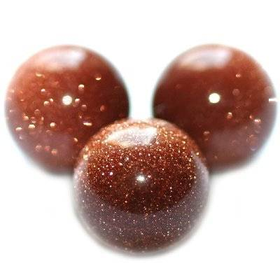 gold sandstone beads 12 mm / semi-precious stone synthetic