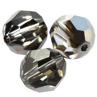Swarovski round beads crystal silver night 4 mm
