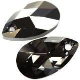 Swarovski pear-shaped pendants crystal silver night 16 mm