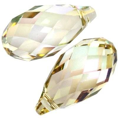 Swarovski briolette pendants crystal luminous green 13.0 x 6.5 mm