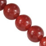 jade beads ruby 8 mm / semi-precious stone dyed