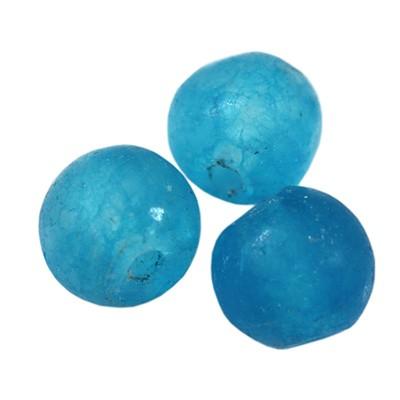 Jade matte azure 4 mm / Halbedelstein gefärbt