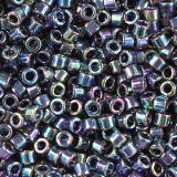 Miyuki pärlor Delica black ab 1.6 x 1.3 mm DB-5 / seed beads
