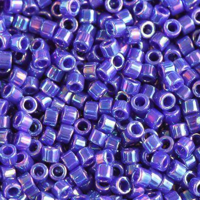 Miyuki Delica beads opaque cobalt ab 1.6 x 1.3 mm DB-0165