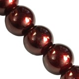 Beads Gold Powder Classic brown 10 mm