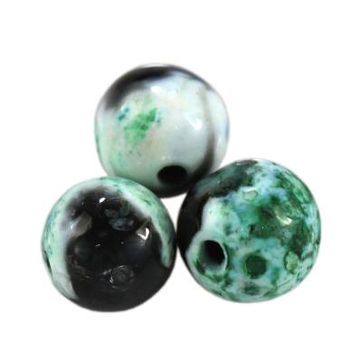 agate dragon eye green round 4 mm pierre teinte