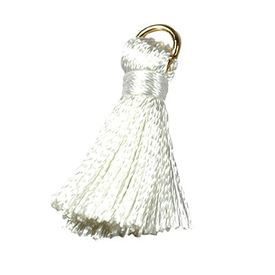 tassels white 21 mm metal ring
