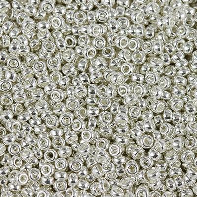 Miyuki round Perlen bright sterling plated 15/0 #15-961
