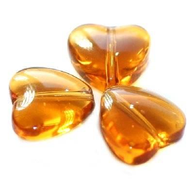 serca brązowe 6 mm / koraliki szklane