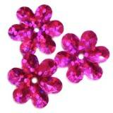 πούλιες λέιζερ λουλούδια ροζ 15 mm