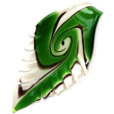 lampwork kralen hangers verlaat emerald met witte pittige 39 x 61 mm