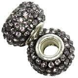 perles modulaires caramballa cristaux argentées 14 mm