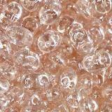 Perles SuperDuo 2,5 x 5 mm luster coating rosaline / Tchèque Perles 2 trous