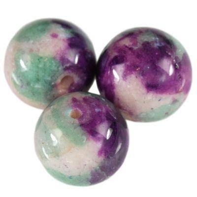 jadeit tęczowy kamień ametystowy 10 mm naturalny barwiony