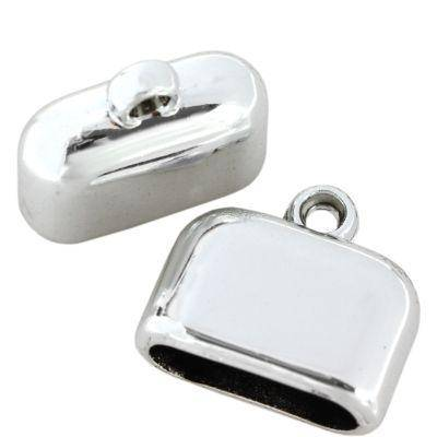 końcówki plastikowe kolor srebrny / końcówki do wklejania/ końcówki do biżuterii