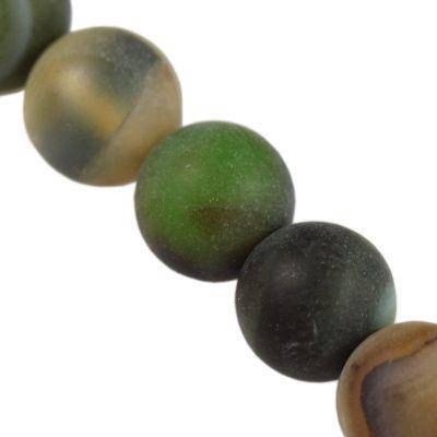 agat matowy zielony 6 mm kamień półszlachetny naturalny barwiony