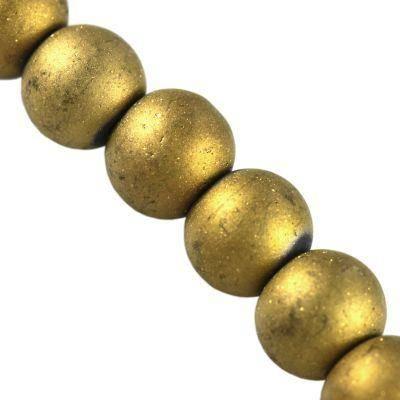 Beads Lunar gold 6 mm