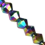 CrystaLine bicones coated rainbow 3 mm / crystal beads