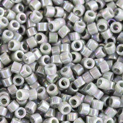 Miyuki Delica opaque grey ab 1.6 x 1.3 mm DB-0168