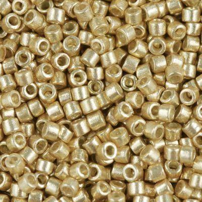 Miyuki Delica duracoat galvanized gold 1.6 x 1.3 mm DB-1832