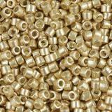 Perles Miyuki Delica duracoat galvanized gold 1.6 x 1.3 mm DB-1832