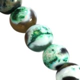 agate dragon eye green round 6 mm pierre teinte
