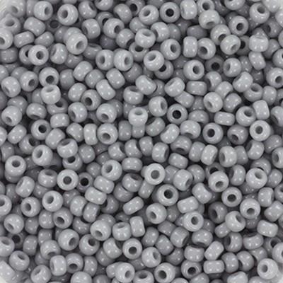 Miyuki round beads opaque gray 11/0