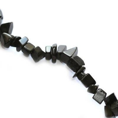 black stone chips/ semi-precious stone