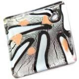 perles lampwork pendentifs argent carrés TEARDROPS 54 x 54 mm