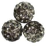 fimo round caramballa rhinestones silver 8 mm