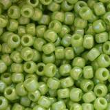 Toho beads round opaque-rainbow sour apple 2 mm TR-11-404
