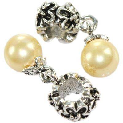 perles boules perle champagne 8 mm