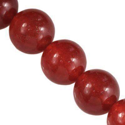 round jade ruby 12 mm