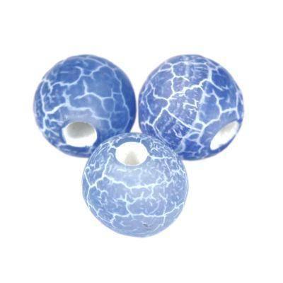 agat ognisty błękitny 6 mm kamień półszlachetny naturalny barwiony