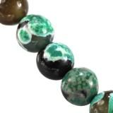 agat smocze oko zielony 8 mm kamień naturalny barwiony
