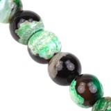 agate dragon eye green round 8 mm pierre teinte