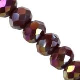 Crystaline rondelle améthyste foncé AB 4 x 6 mm / perles de cristal