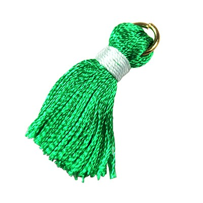 tassels green 21 mm metal ring