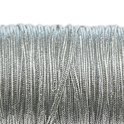 Rayon soutache cord 2.5 mm metallic silver