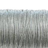 Rayon soutache cord 2.5 mm metallic silver
