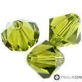 Swarovski bicone beads olivine 4 mm