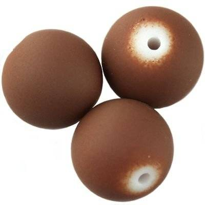 glass beads rubber coated chestnut 10 mm